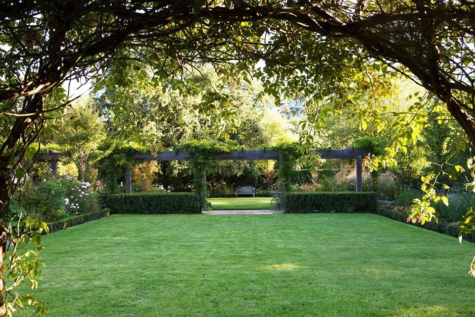 A Stately Ballarat Garden Is Reimagined For The 21st Century With A Pergola Replacing A Tennis Court And Distinct Ro Backyard Outdoor Landscaping Lawn Design