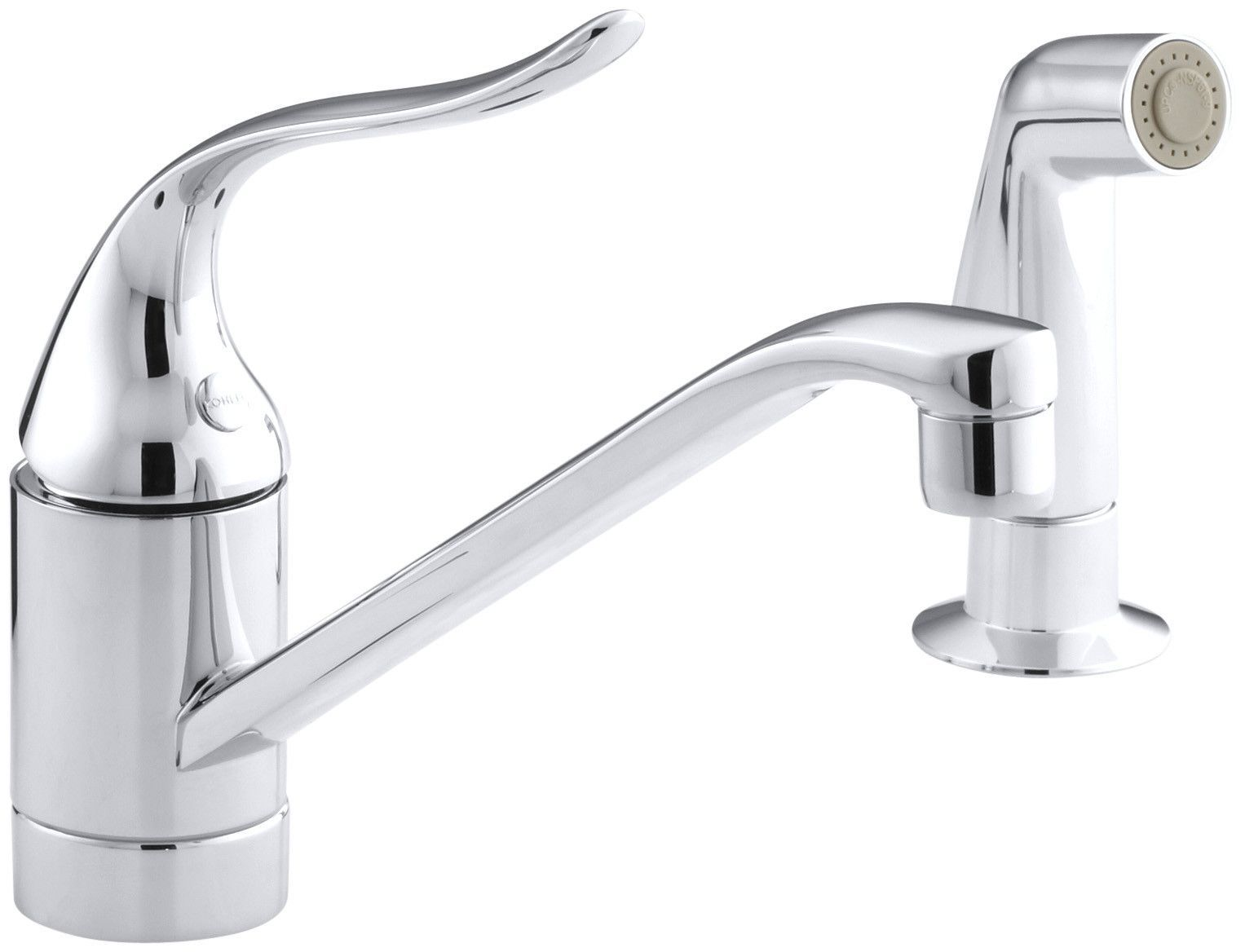 Coralais Two-Hole Kitchen Sink Faucet with 8-1/2\