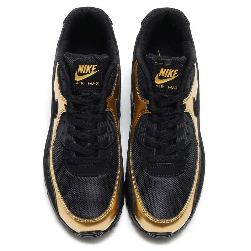 nike roshe two cheap grey, Mens Nike Air Max 90 black gold