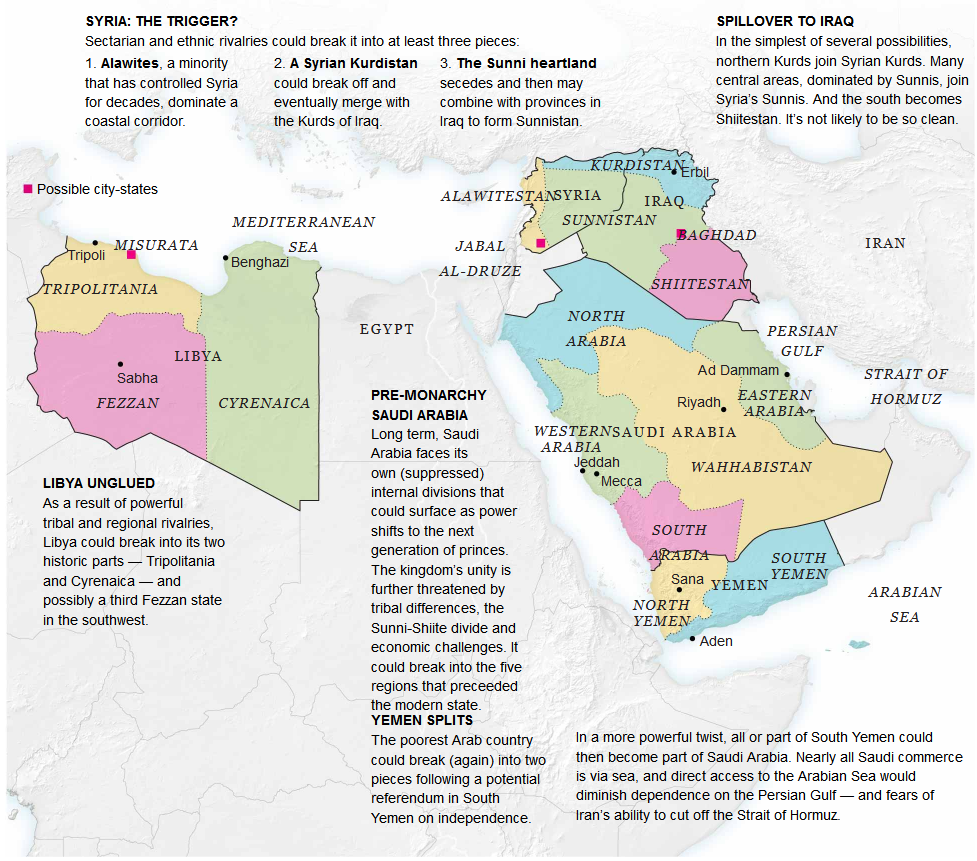 How 5 Countries in the Middle East Could Become 14 Middle east