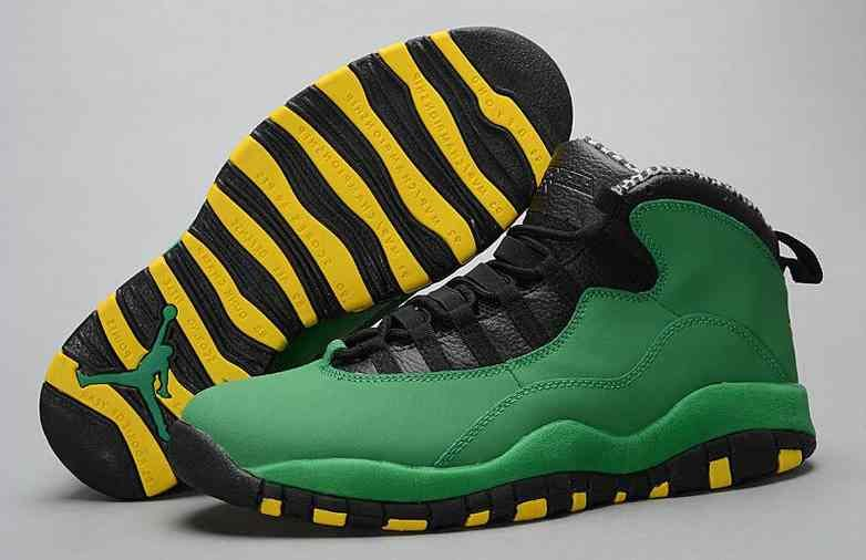 2015 New Arrival Air Jordan 10 Retro Basketball Shoes Oregon Ducks Green  Mens…