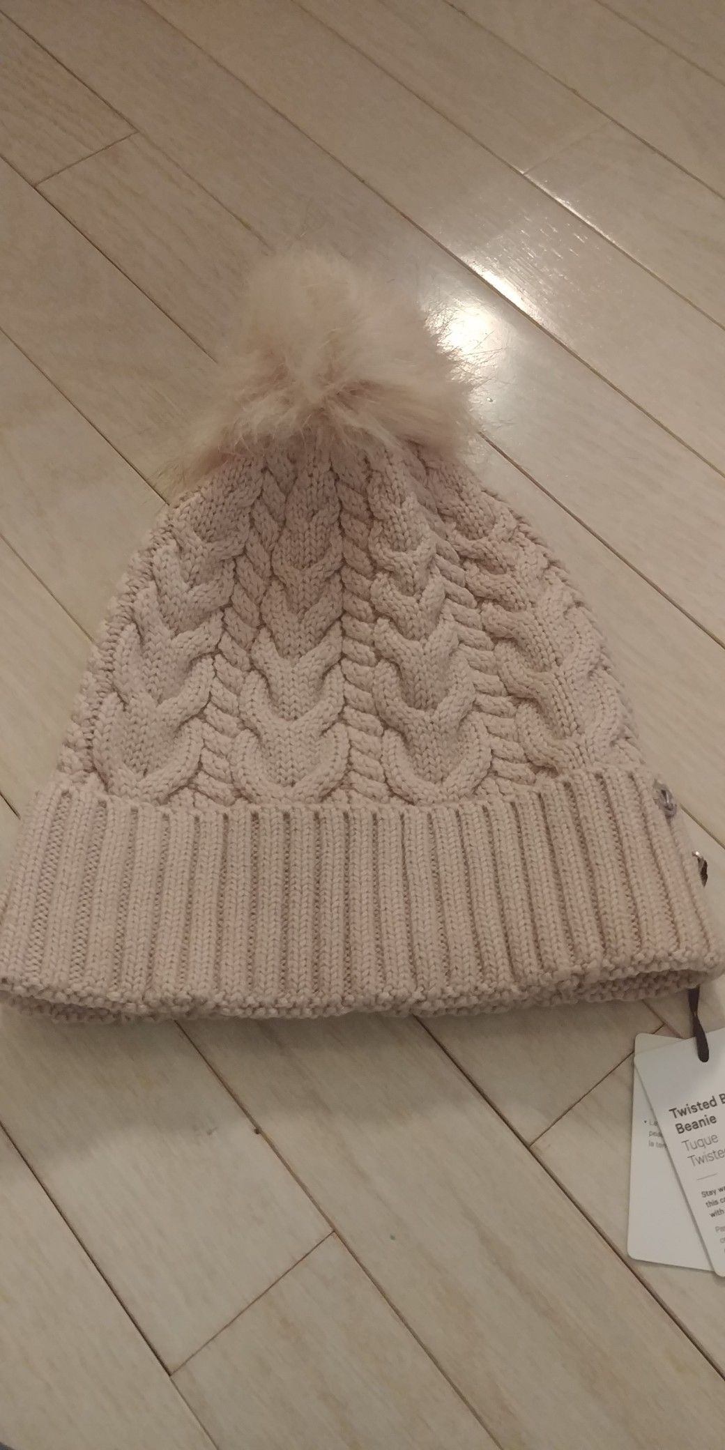 c8978197fd6 My Brand New Lululemon Mink Berry Pink Twisted Bliss Beanie That I Got For