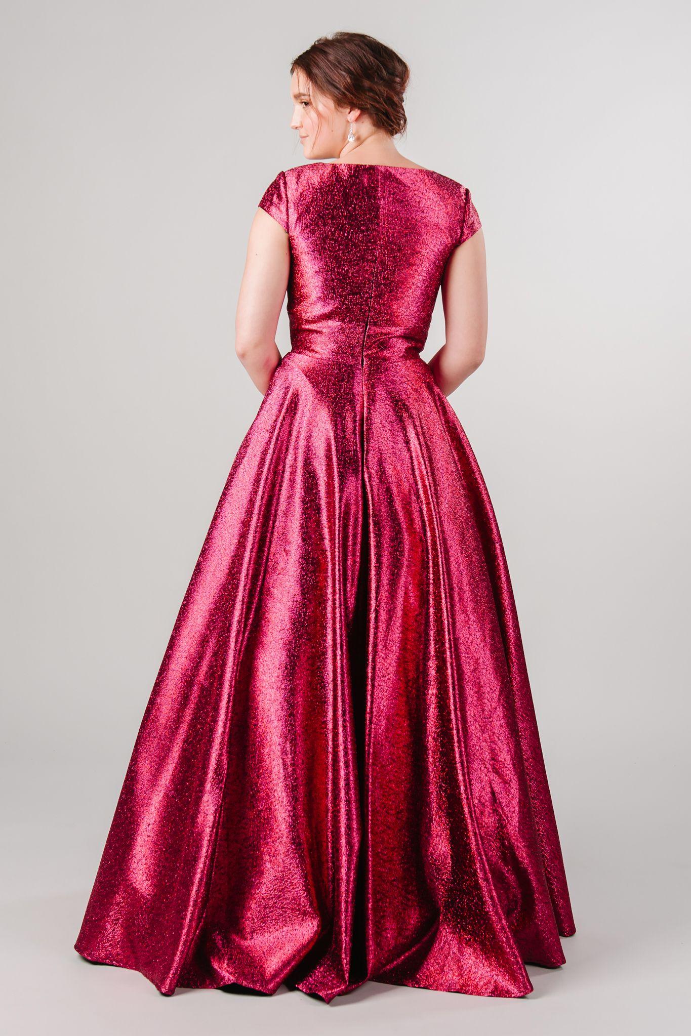 Red Modest Prom Ballgown #modestprom