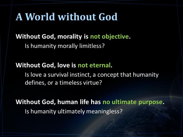 World Without God Godsbreathnet God Apologetics Survival Instinct