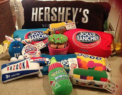 Candy Plush Beanie Bean Bag Pillow Tootsie Roll Nerds Crunch Dots Lots Ebay Candy Pillows Cool Things To Buy Cute Pillows