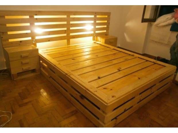 Pin de Cuauhtémoc Pérez en muebles de tarimas Pinterest Palets - camas con tarimas