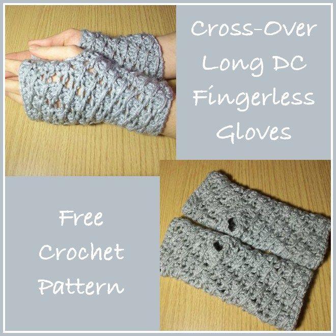 Cross-Over Long DC Fingerless Gloves ~ FREE Crochet Pattern ...