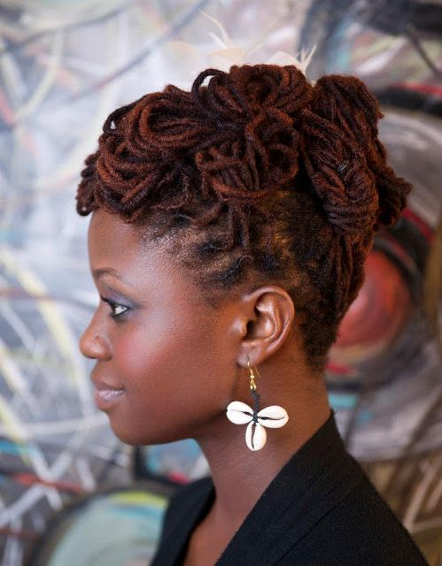 Loc Updos For Long Locks Loc Hairstyle Read More Natural Updo Read Best Hairstyles Hair Styles Natural Hair Styles For Black Women Natural Hair Styles