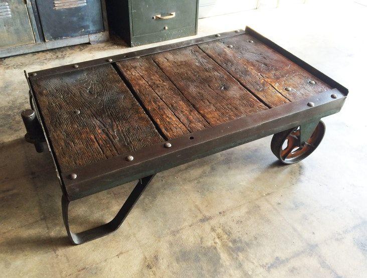 Vintage Industrial Factory Cart Vintage Industrial Furniture Industrial Furniture Industrial Design Furniture
