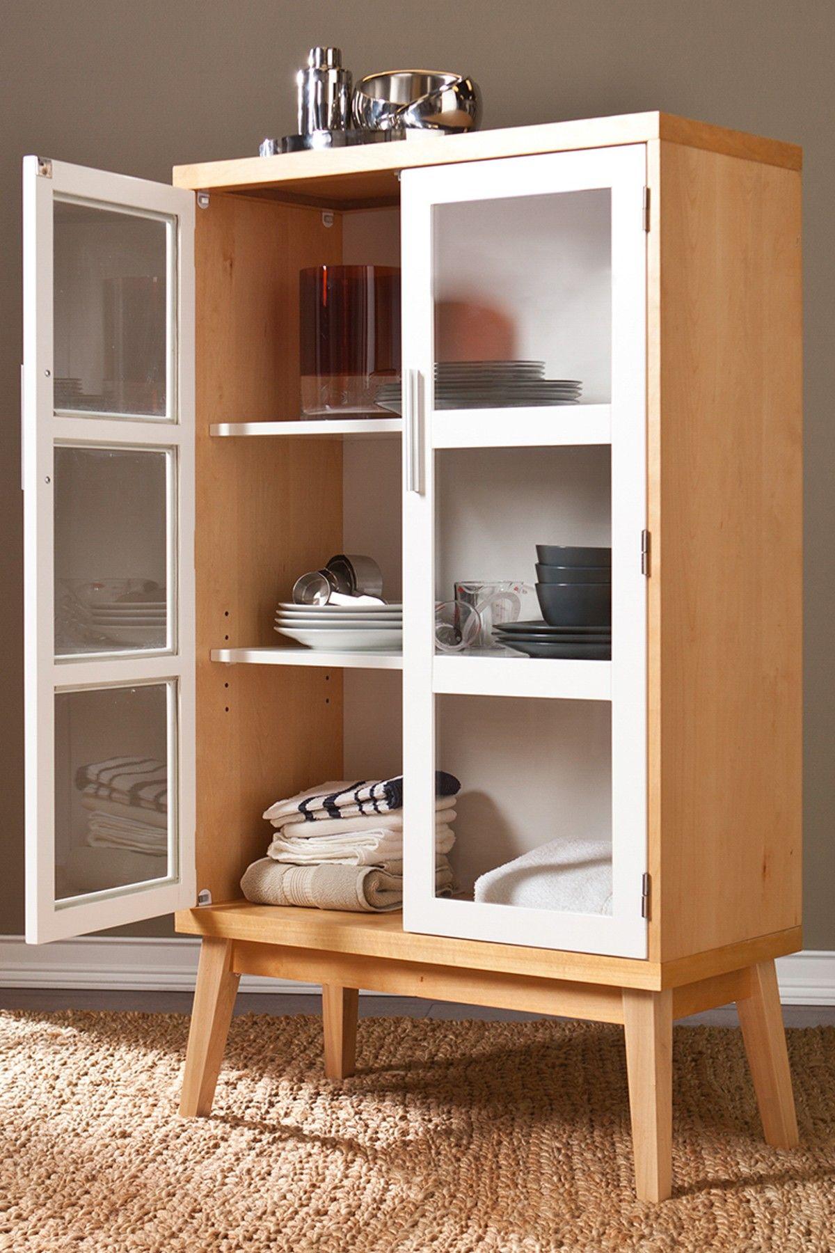 Halifax Natural Oakwhite Double Door Cabinet On Hautelook Home