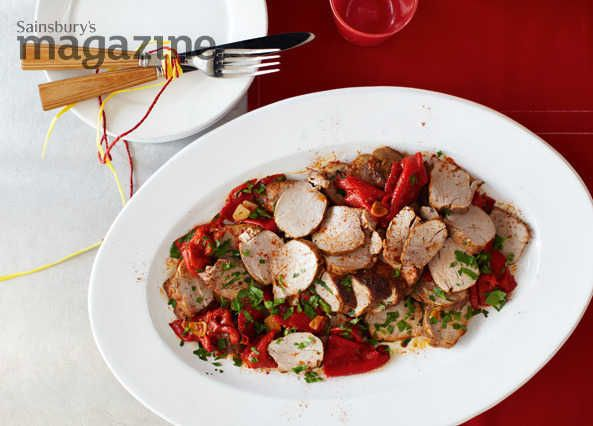 Smoked paprika and piquillo peppers bring a flavour of Spain to this tempting pork dish from José Pizarro and Sainsbury's magazine