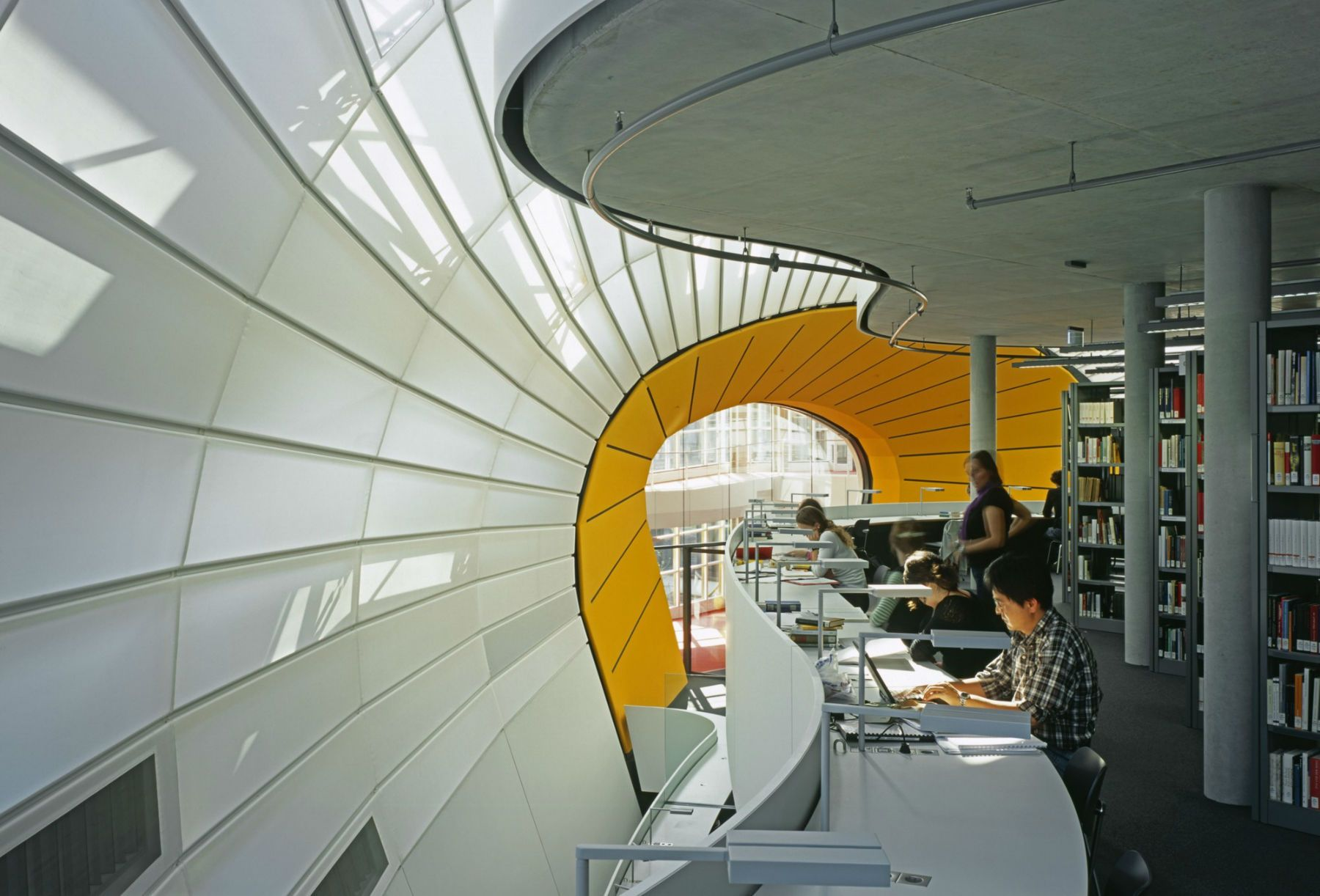 Free University Philology Library Foster Partners Design  # Bibliotheque Placo Design