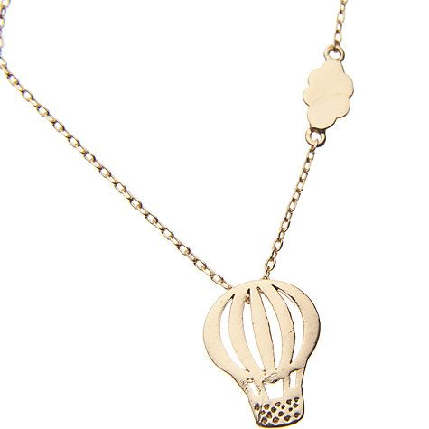 John Lewis Hot Air Balloon Necklace, Gold