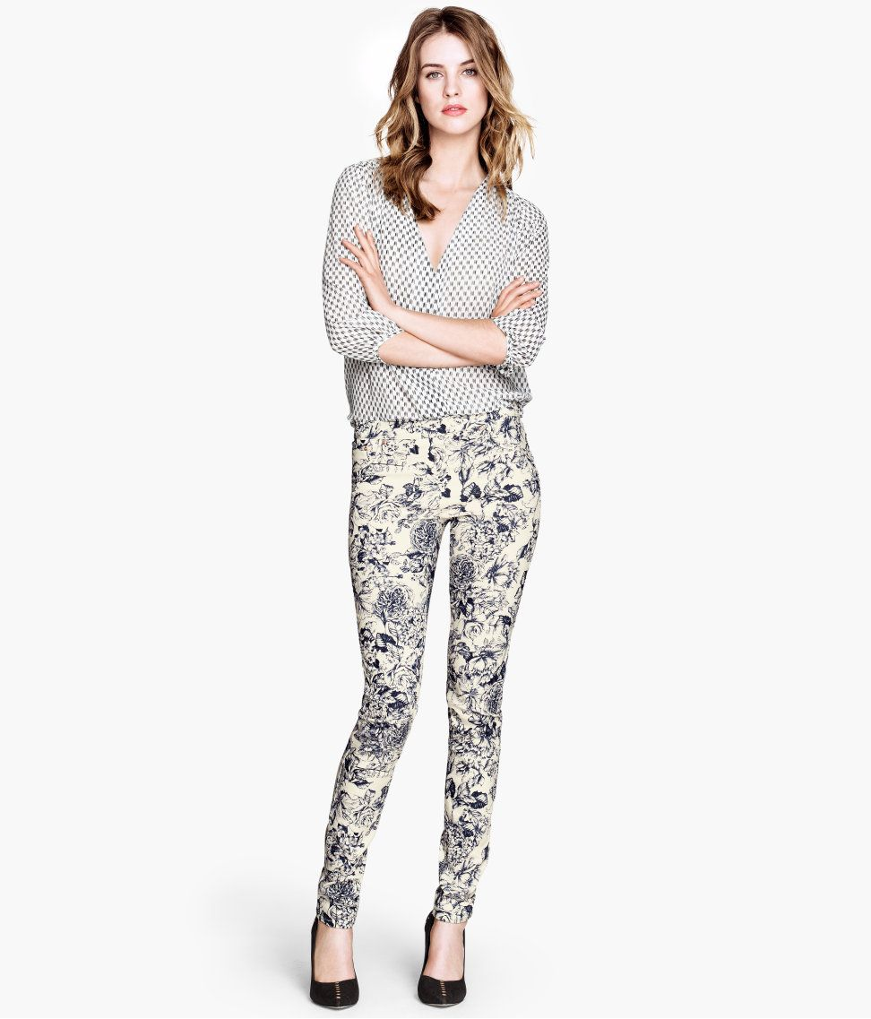 Blouse and treggings from H & M | Women's Fashion | Pinterest