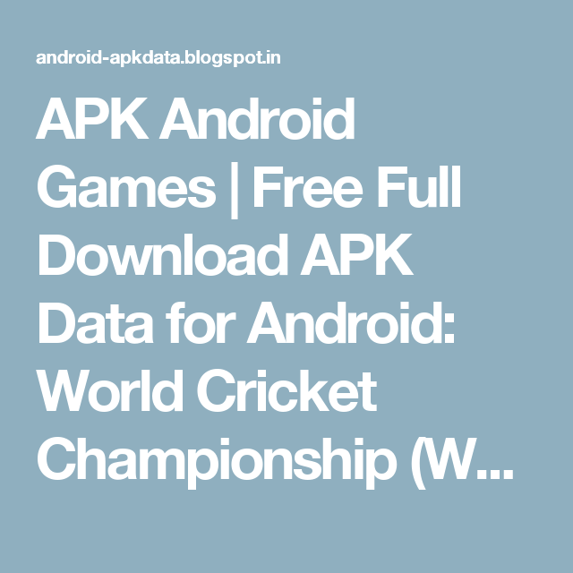 Wcc2 game free download for android | World Cricket Championship 2