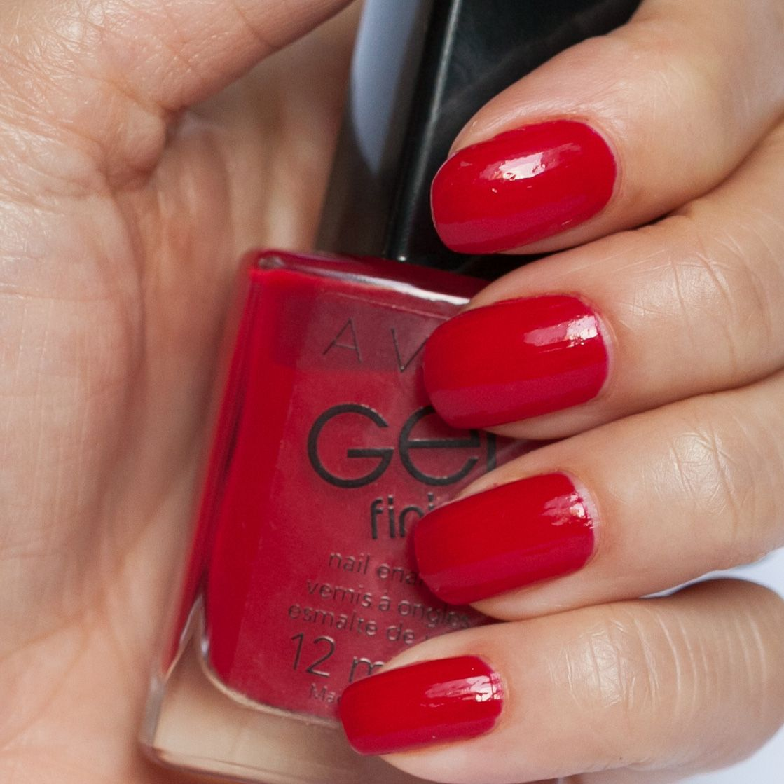 avon gel finish candy apple nails