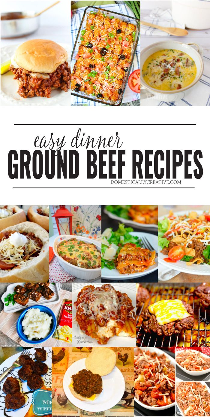 12+ Ground Beef Dinner Recipes Dinner with ground beef