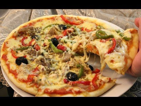 ميني بيتزا بدون فرن في المقلاة بحشوة سهلة ولذيييذة سريعة التحضير لمائدة رمضان Youtube Food Food And Drink Vegetable Pizza