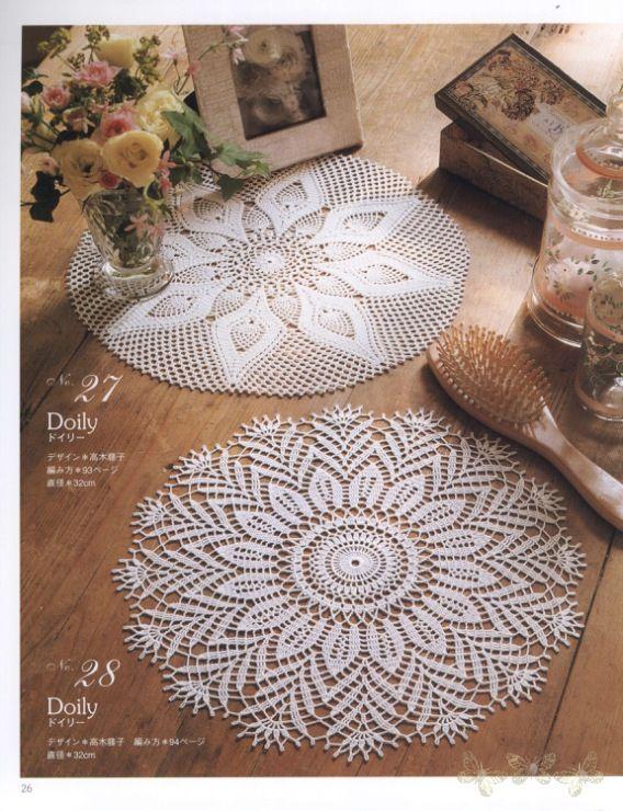 Gallery.ru / Фото #22 - Elegant Floral Crochet Lace Doily Table Cloth - igoda