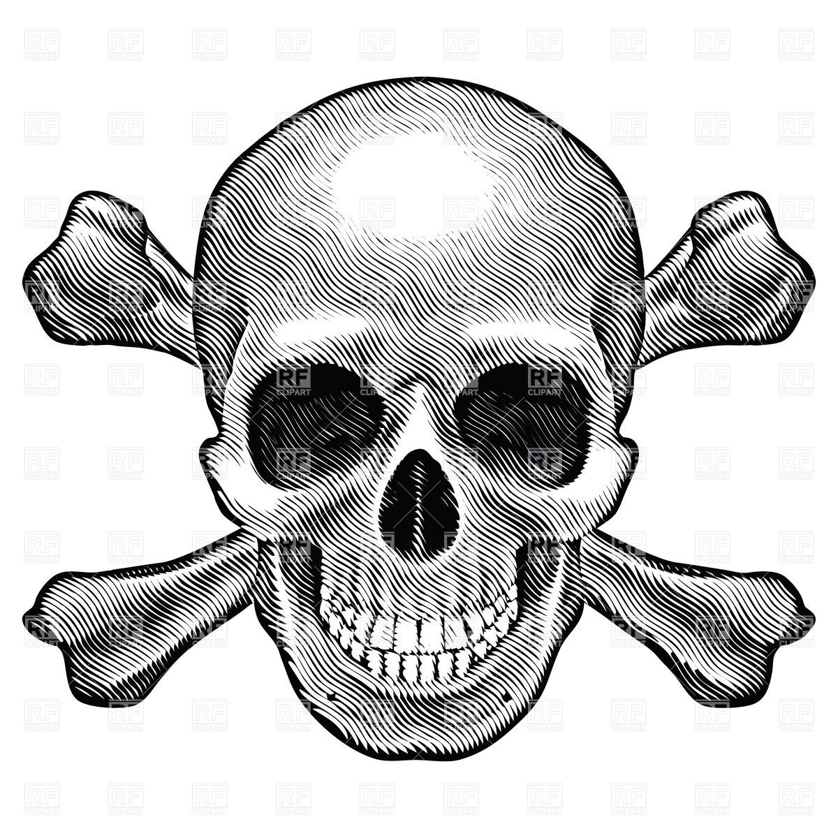 Crossbones and skull sketch style 7364 healthcare