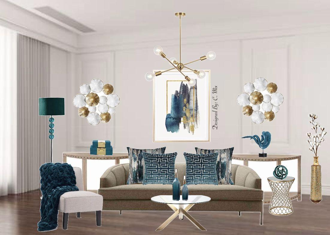 Teal Living Room Teal Living Rooms Room Design #teal #and #gold #living #room #decor