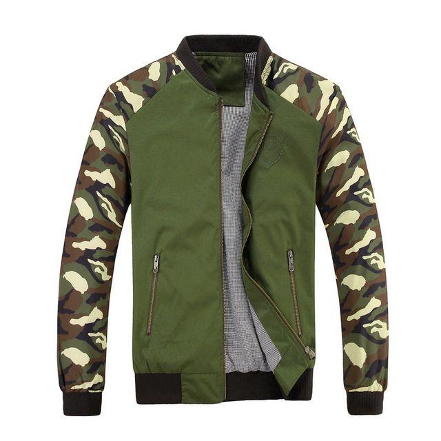 2016 nueva marca otoño primavera chaqueta de camuflaje hombre militar de buena calidad chaquetas tallas grandes 2XL 3XL envío gratis