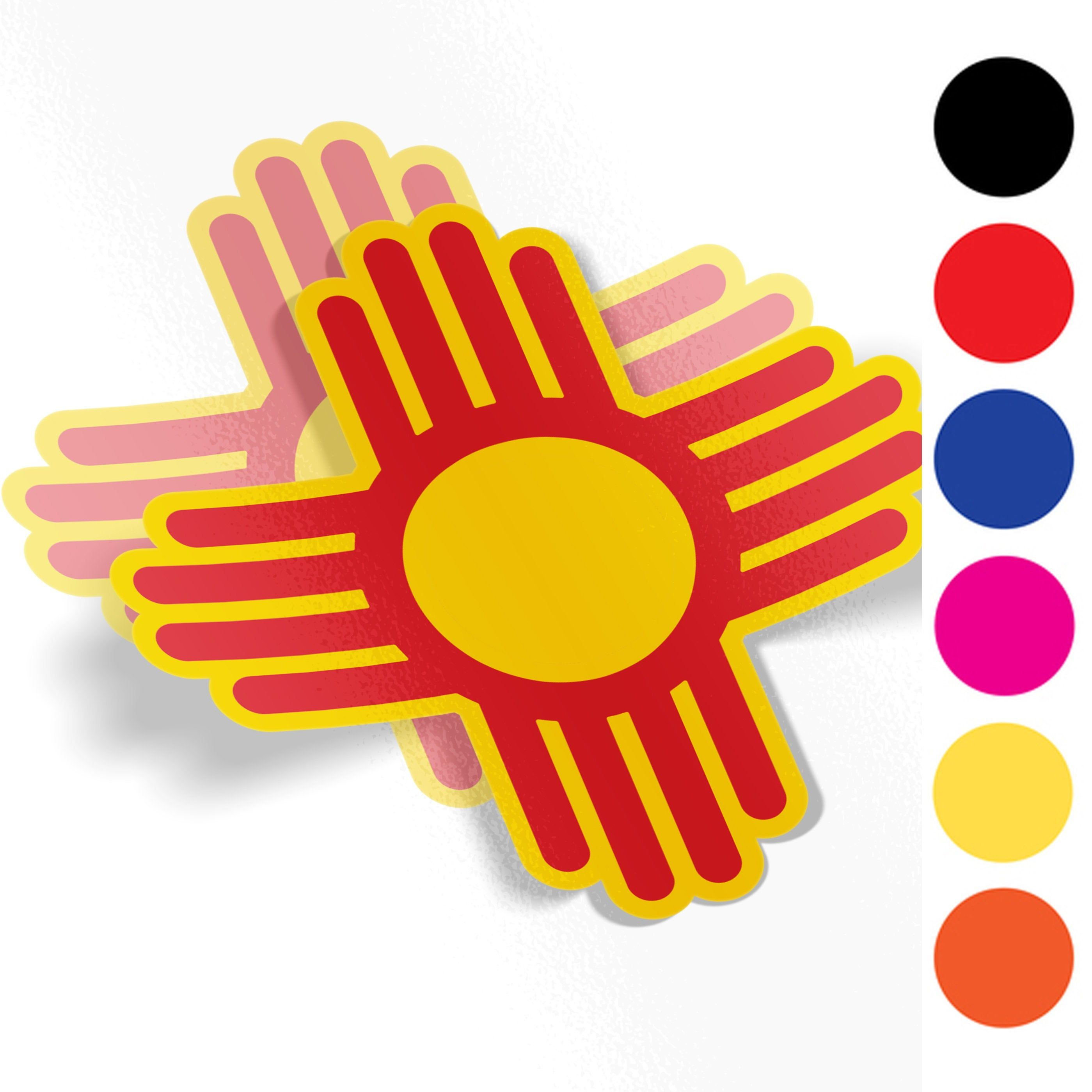 New Mexico Zia Symbol Decal Sticker A1 Decals