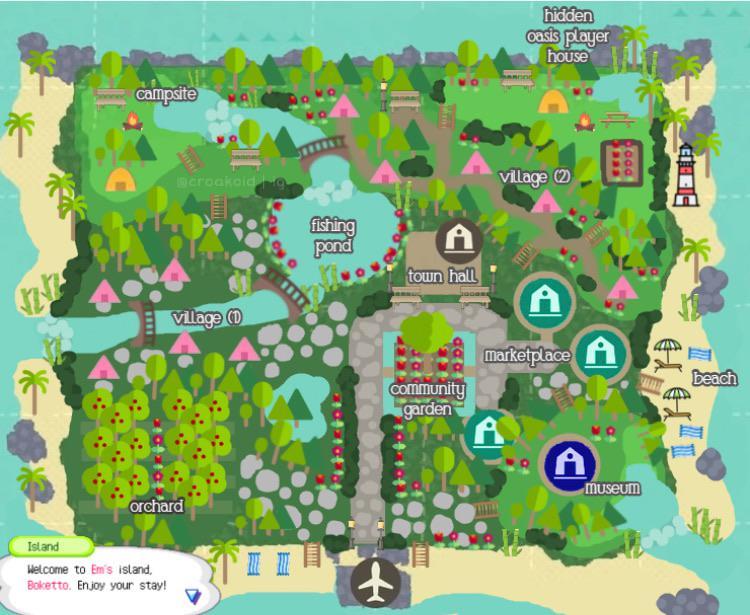 Animal Crossing Island Layout Animal Crossing New Animal Crossing Animal Crossing Pc