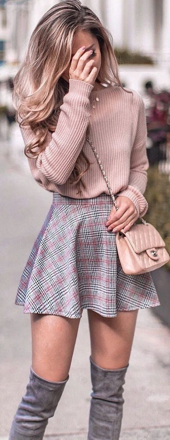 45 Trendy Outfits You Should Wear This Spring - #blond #Outfits #Spring #trendy #wear #springskirtsoutfits