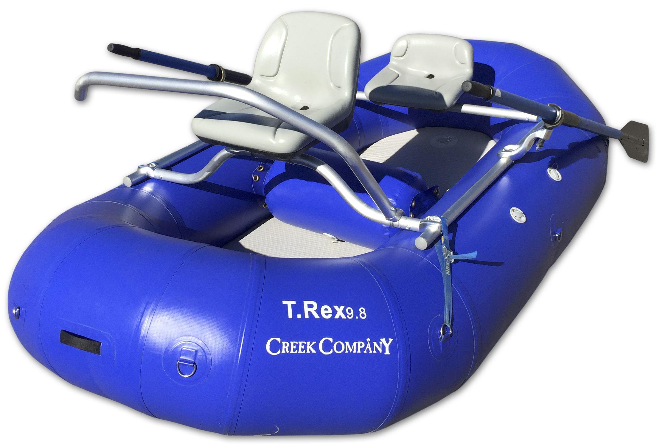 The creek company t rex raft 980 t rex 9 8 mini for Fly fishing raft