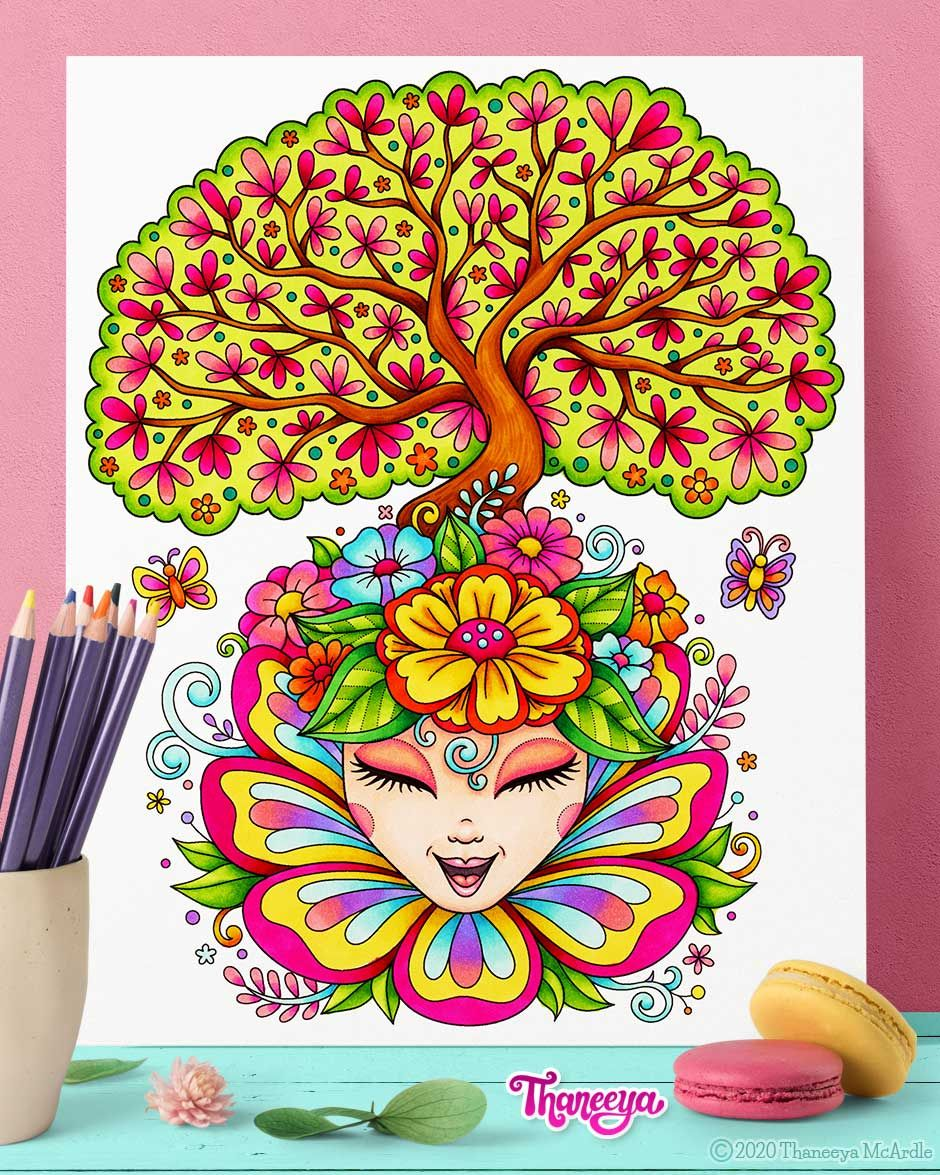 Pin On Printable Coloring Pages By Thaneeya Mcardle [ 1175 x 940 Pixel ]