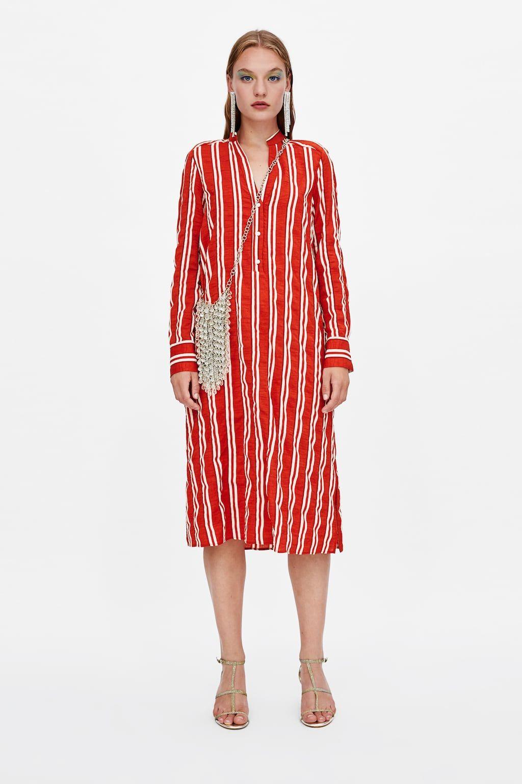 8abb01c579 Striped dress   Fall/Winter 18'   Dresses, Striped shirt dress ...