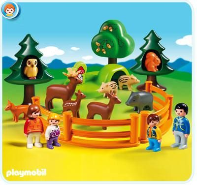 playmobil 123 forest animal park buy at growing tree. Black Bedroom Furniture Sets. Home Design Ideas