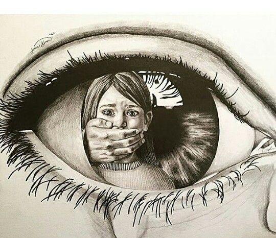 Disegno Sulla Violenza Sulle Donne.Un Disegno Che Mi Tocca Il Cuore Disegno Degli Occhi Schizzi D Arte