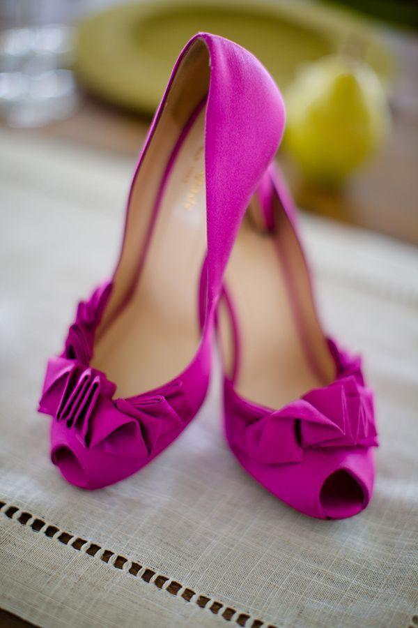 Fuchsia Wedding Shoes Love The Ruffles