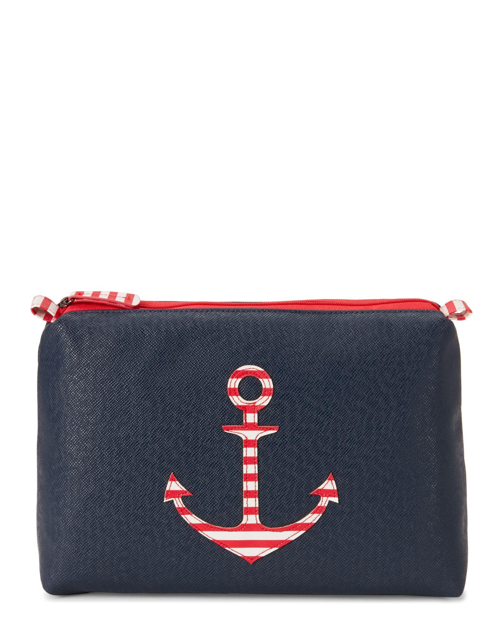 Stella & Max Large Anchors Away Cosmetic Bag