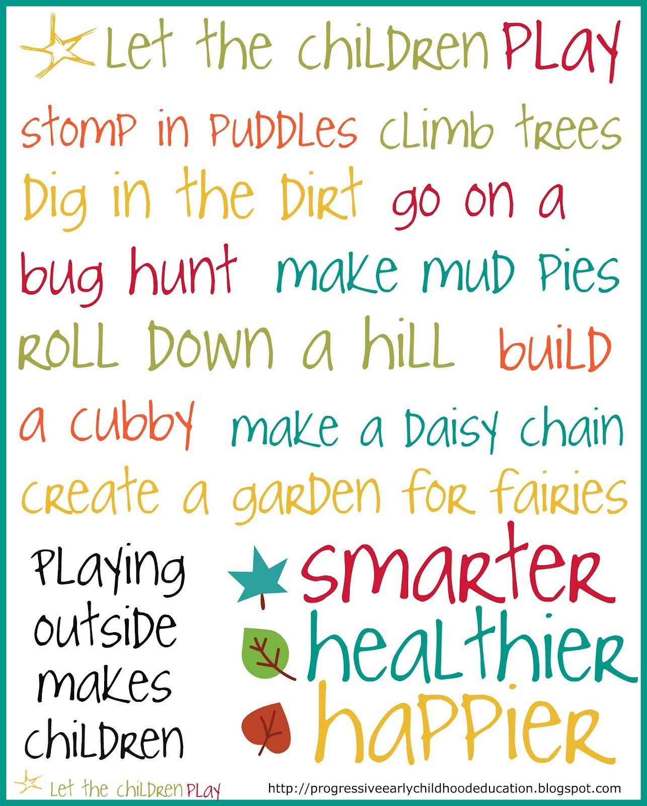 Prepare Your Child For Stem Subjects: Let The Children Play: Let The Children Play Poster