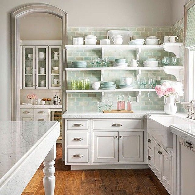 Kitchen With Open Cabinets: Kitchen Styling, Kitchen, Cottage Kitchens
