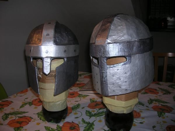 Making paper mache helmets and swords crafts pinterest for Homemade papier mache