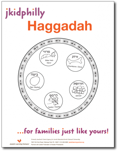 Delicate image throughout children's passover haggadah printable