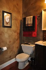 Faux painted powder room.
