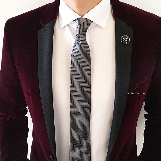 Burgundy as a black formal replacement | Details at SuitedManStyle.com | Blazer by @hugo_sandiego | Accessories by SuitedMan.com | #suitup @SuitedManStyle