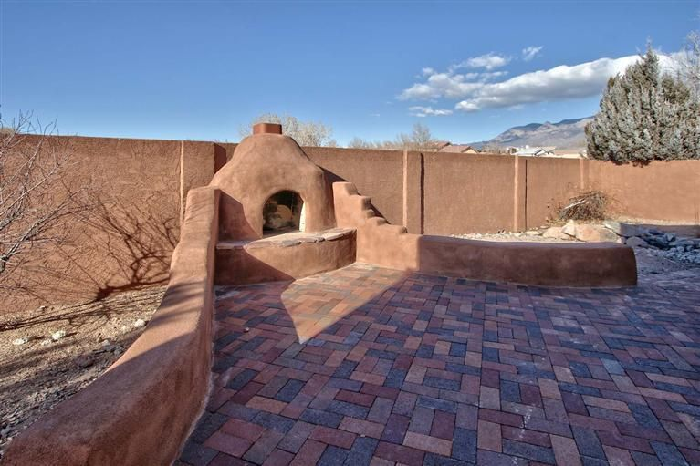 Mountain Views By An Outdoor Fireplace Home For Sale Albuquerque