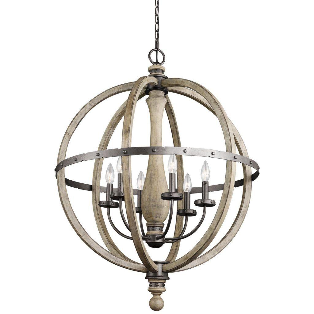 kichler dag evan chandelier light watts distressed white wooden