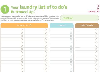 Tool: Free Printable Laundry List of To Dos and To Do