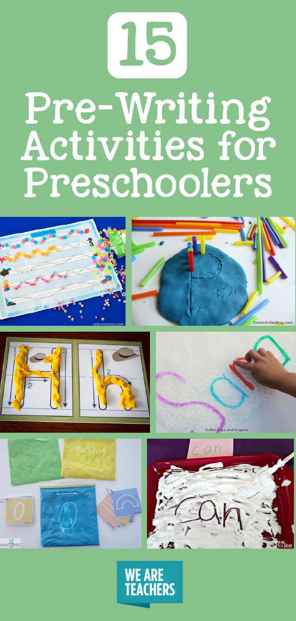Pre-Writing Activities for Preschoolers - WeAreTeachers #career #career #activities