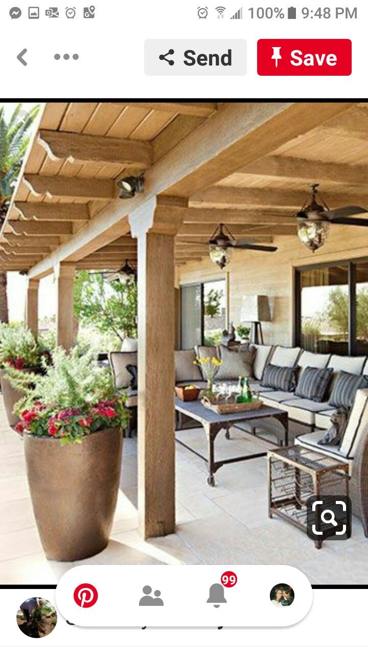 Pin by sherry douglas on Our Home in 2020 Covered patio