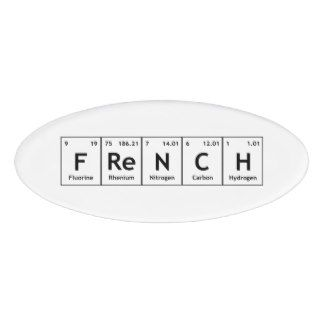Chemical periodic table of elements teacher name tag pinterest french chemistry periodic table words elements name tag urtaz Gallery