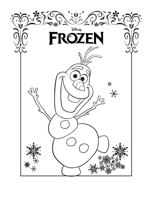 Frozen Olaf Coloring PagesDisney SheetsPrintable