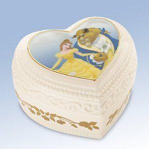 Amazon.com: Lenox Disney Belle & Beast Sweet Romance Keepsake Box: Furniture & Decor